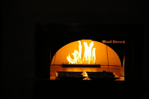 A wood burning stove in midtown