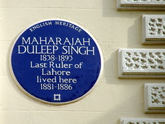 Photo of Duleep Singh blue plaque