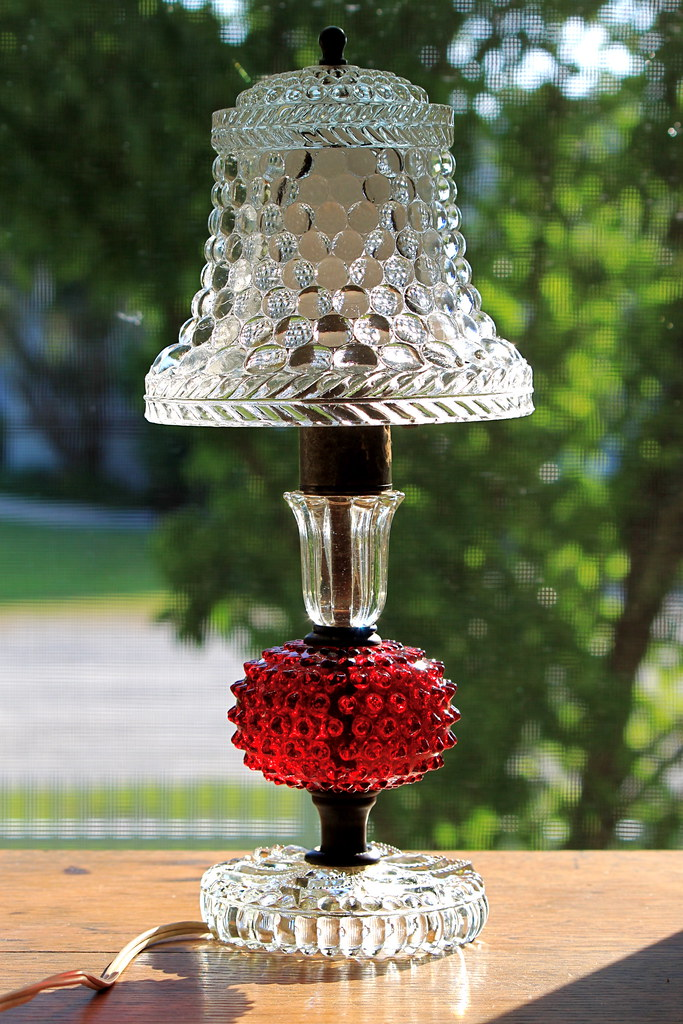 Glass Lamp w/ Glass Shade
