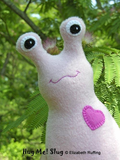 Pink Hug Me! Slug by Elizabeth Ruffing