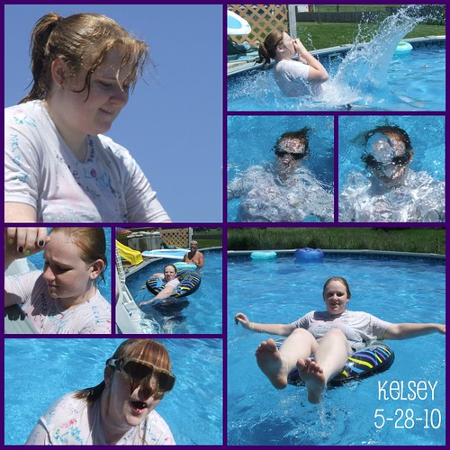 Kelsey in pool 5-28-10