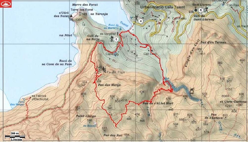 Camino mapa Alpina