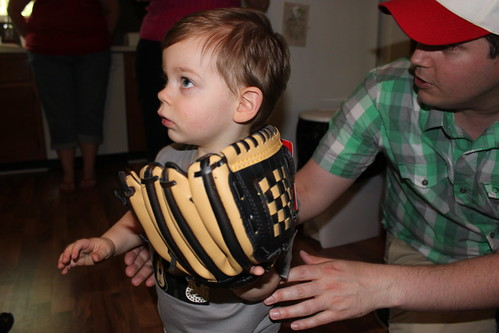 Landon with his new glove by you.