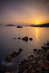 Sounio... the sunset effect (DA.S.) Tags: longexposure sunset sea reflection rocks waterscape sounio nd400 sigma1020 leegndfilters