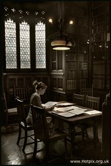 Reader In The John Rylands Library, Manchester UK (@HotpixUK -Add Me On Ipernity 500px) Tags: city uk greatbritain our england building english public sepia john manc