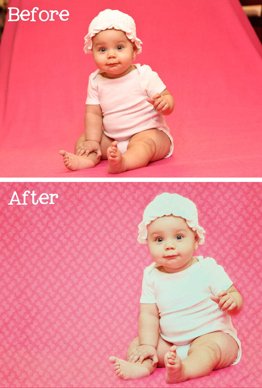 Baby A Before and After