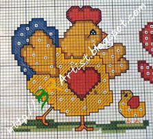Gráfico de Ponto Cruz -galinha-02