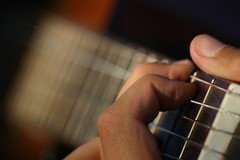 Guitar Hands (Valerio.Angelici) Tags: music hand guitar finger player note chitarra corde suonare strumenti chitarrista musicali suonatore colorphotoaward flickraward bokehhearts