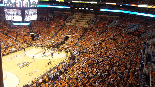 A Sea Of Orange - Phoenix Suns Playoff Game