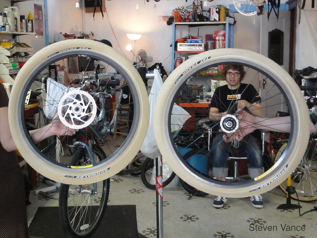 Wheels! And a disc brake!