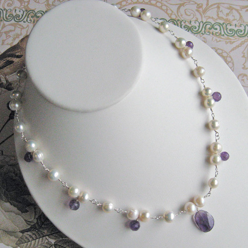 Pearl & Amethyst necklace
