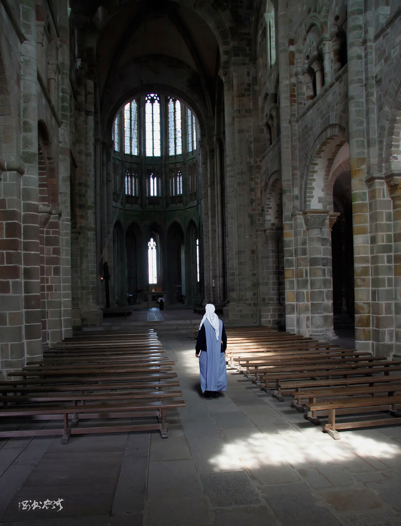 Benedictine Abbey at Mont Saint-Michel