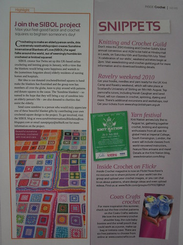 I've managed to take a photo off the computer. I loaded the magazine digitally. At last you can see our SIBOL Project in print!