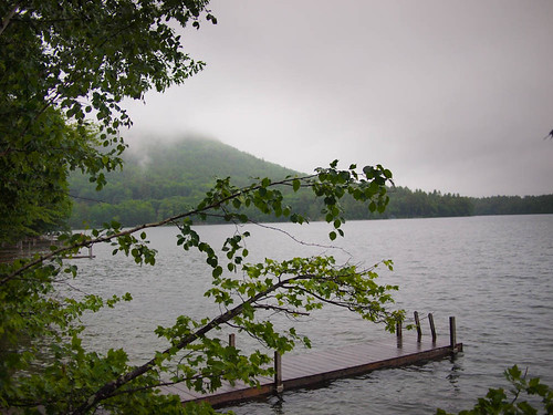 Squam lake is beautiful in the rain