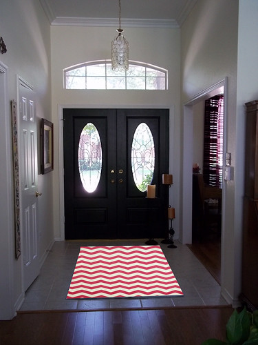 entry with pink zig zag