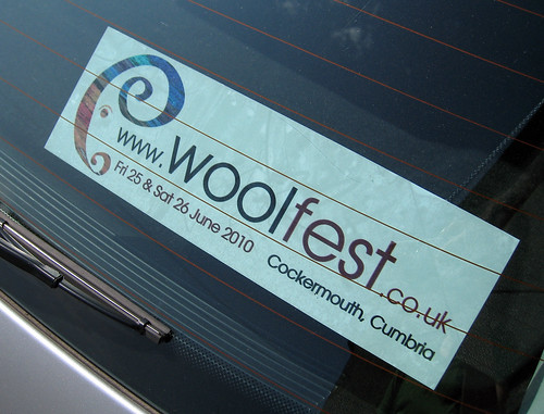 Woolfest car sticker