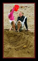 Bucket Attack (edenmatt) Tags: beach coast bucket sand pebbles cumbria coastline sandcastle cumberland solway silloth spade maryport allonby westcumbria