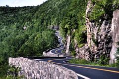 the Hawk's Nest by day (mudpig) Tags: road ny newyork tree geotagged highway pa curve hdr 97 hawksnest portjervis mudpig stevekelley