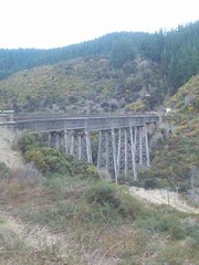 Tressel bridge (a-dinosaur) Tags: new railway zealand dunedin gorge the taieri