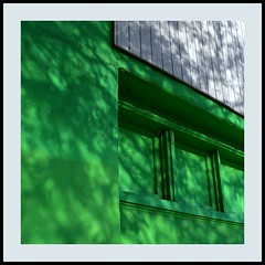Dappled Lines (Non Paratus) Tags: windows abstract green lines shadows stucco