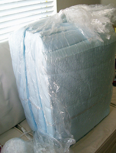 foam cushions in air tight bag