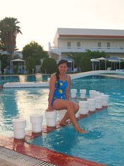 Rhodes - Kolymbia Pool (let) Tags: travel woman pool girl lady female island greek europa europe pretty eu swimmingpool greece rhodes rhodos grichenland dodekanes rdos   rhdos