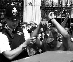 David Arrested_MG_2815 (rodwey2004) Tags: david westminster democracy protest streetphotography police parliament bigben parliamentsquare trespass campaign protesters activist arrest ecovillage highcourt peacecamp democracyvillage