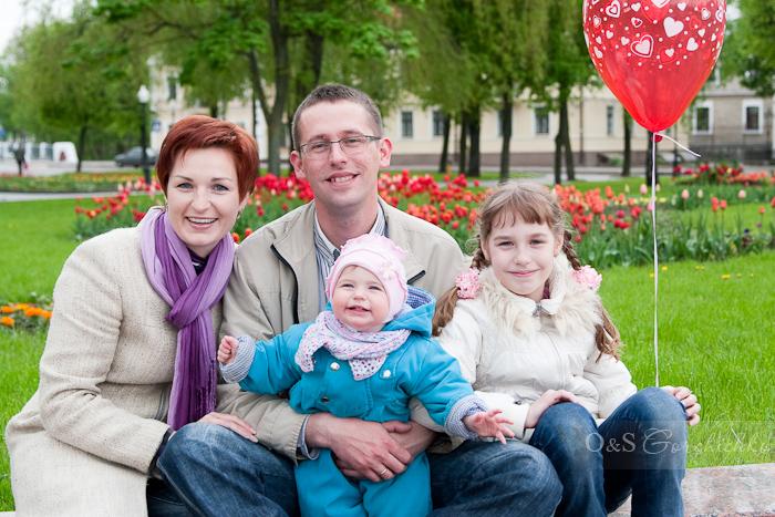 Семейная фотосъемка. Гродно. Семья Люды в парке