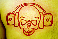 skull #1 (Christian Gallagher Photography) Tags: art tattoo pain blood cut piercing bodyart scarification bodymodification bodypiercing scalpel masochism bodydecoration macdrevilmccarthy deepandrude