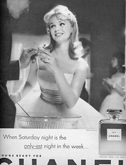 The only-est night in the week (sugarpie honeybunch) Tags: party vintage magazine advertising 60s perfume ad 1960s chanel seventeen