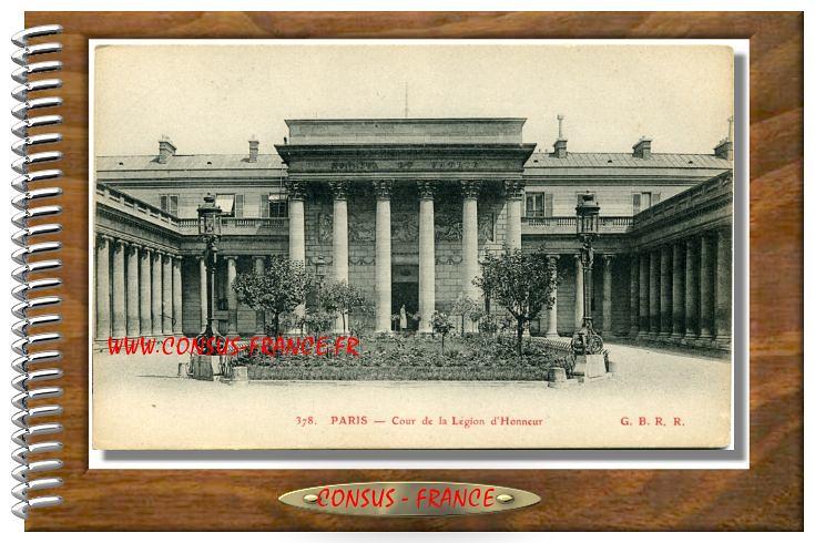 378 PARIS - Cour de la Légion d'Honneur
