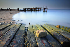 Kuwait - Destructed Jetty ( Saleh AlRashaid / www.Salehphotography.net) Tags: sunset bw seascape art sunrise landscape island photo nikon long exposure cityscape gulf state photos outdoor 110 middleeast arab canon5d kuwait nano d3 gcc kuwaitcity kuwaiti q8 saleh  kuwaity alkuwait          kuwaitdesert kowait citynightshot stateofkuwait    d3x leefilters  kuwaitphoto kuwaitphotos kuwaitpic q8photo  q8pic    alrashaid bobyan salehalrashaid  salehphotographynet  kuwaitsanddunes