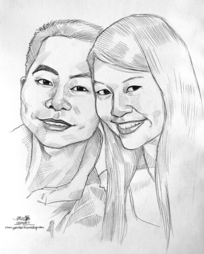 couple portraits in pencil 05062010