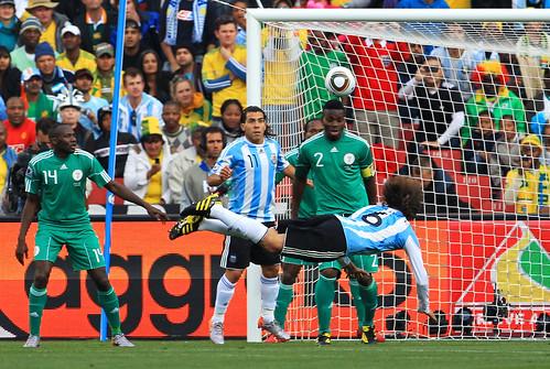 Gabriel Heinze gol Argentina Nigeria