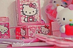 HellO  kitty (tt   ) Tags: hello pink sunglasses notebook kitty packet
