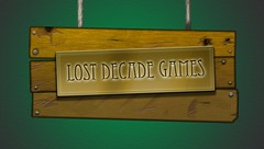 Lost Decade Games sign logo
