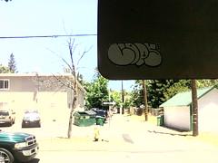 Cops 640 (PhurGotten) Tags: graffiti sticker cops slap chico graff 640