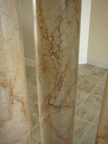 Veining Close up of Faux Marbled Columns