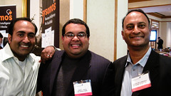 "3 ""Indian guys"" at #csm10 all from DC @rohitbhargava @vasta @shashib"