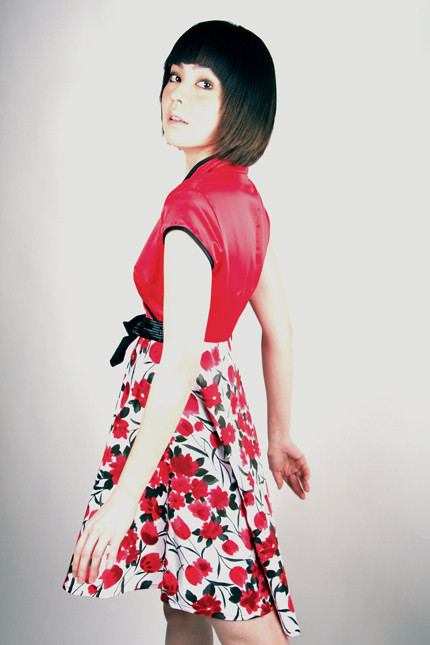 Flare Empire Cut Cotton Cheongsam