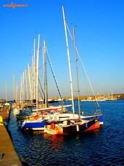 colori a portosole (archgionni) Tags: blue sea italy port reflections boats italia mare colours blu barche porto reflexions colori riflessi sanremo