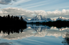 A Thursday Morning at Oxbow (Jeff Clow) Tags: morning mountains reflection nature clouds river landscape spring bravo raw natural explore snakeriver wyoming mountmoran tetons frontpage grandtetonnationalpark oxbowbend 1exp jacksonholewyoming ©jeffrclow frjrc