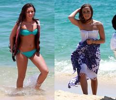 demi in cabo. (: (eℓizaвeтн. [ιѕkj]) Tags: blue beach water tattoo sand cabo bikini demi demilovato demetrialovato