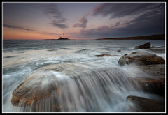Veiled (greyridge) Tags: longexposure sunset lighthouse northumberland stmarys sigma1020mm eos1000d