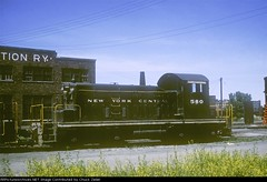 New York Central EMD SW-1  580 in Chicago circa 1950's. From the internet.