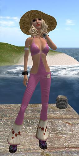 Bang-Bang - Boho Dungarees - outrageous pink