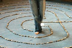 Katie Walking Labyrinth
