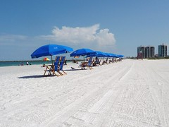 Umbrellas, Sand, Surf... (Barefoot In Florida) Tags: beach florida clearwater sandkeypark nooilhere