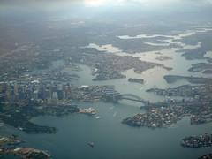 Sydney aerial_005 (mgrenner57) Tags: bridge geotagged harbor opera skyscrapers sydney aerialview australia operahouse harbourbridge 2010 oceania