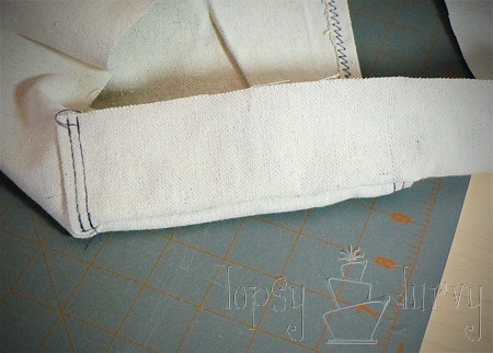 canvas satchel tutorial folding sides